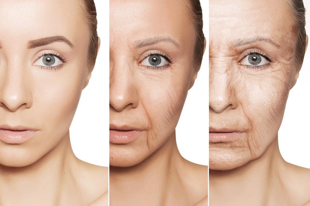 El proceso de envejecimiento del rostro paso a paso.