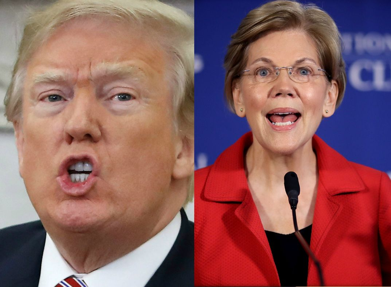 Trump no perdona y vuelve con todo en Twitter contra Elizabeth Warren