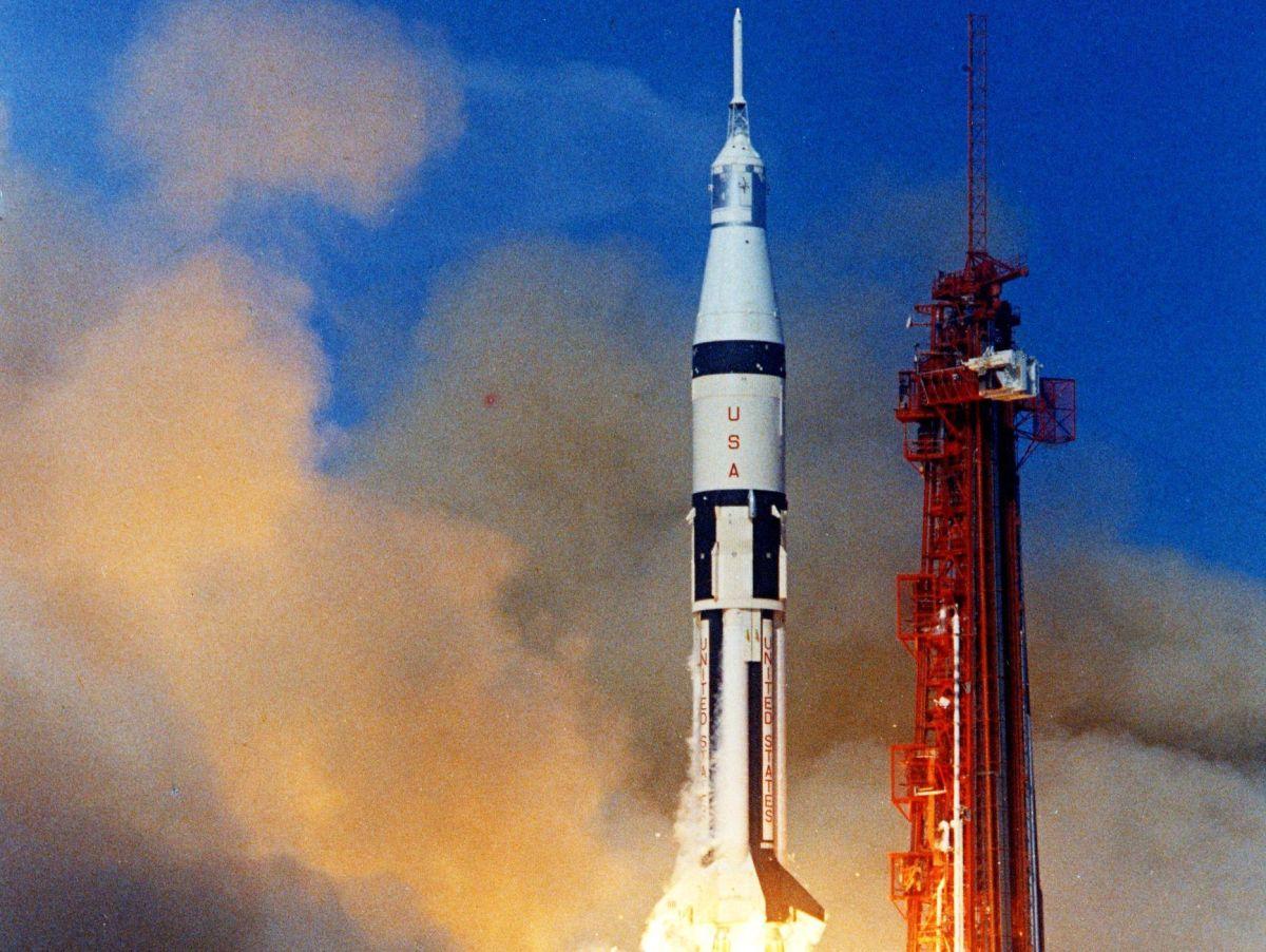 Apolo 7 despega en Cabo Kennedy el 11 de octubre de 1968.