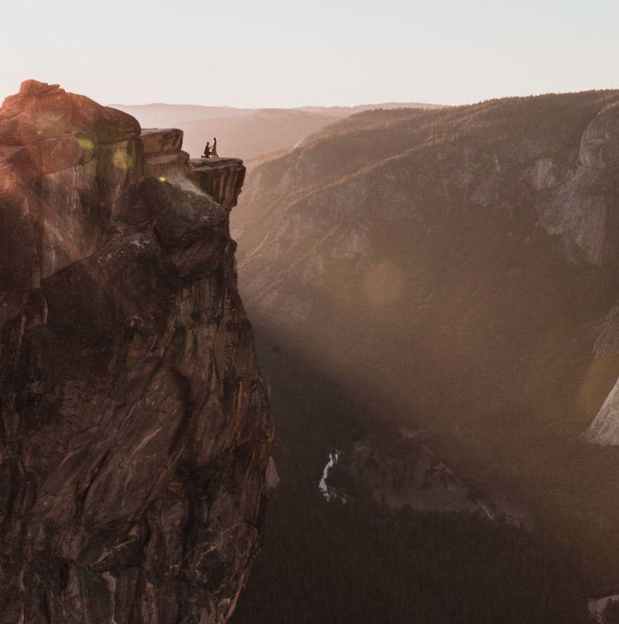 Ya el fotógrafo encontró a la pareja de la foto viral en Yosemite
