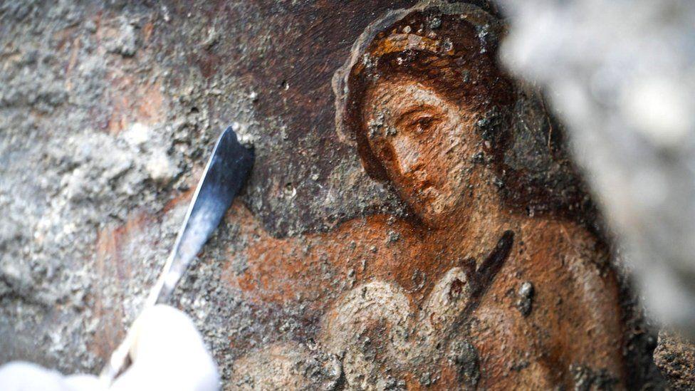 Pompeya: el mito erótico hallado en un fresco en la antigua ciudad romana