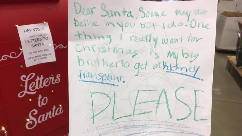 Niña conmueve por pedir a Santa Claus un riñón para su hermano
