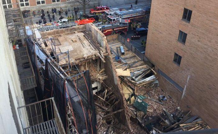 Se desplomó un edificio en Harlem