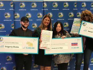 Tres ganadores reciben más de $26 millones de premios de la Lotería de NY