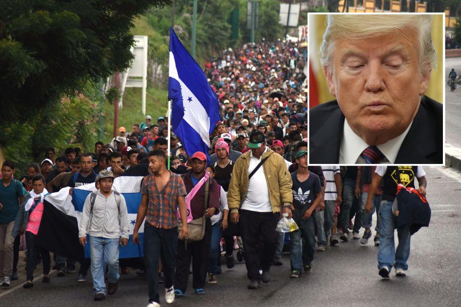 """La acción de caravana migrante a la que Trump califica de """"irónica"""""""