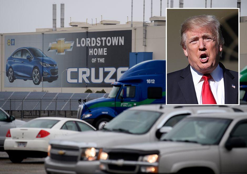 Trump enfurece por cierre de fábricas de GM y amenaza a la empresa