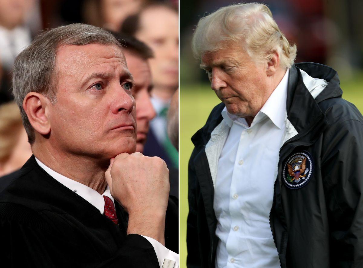 Presidente del Supremo se lanza contra Trump por criticar a juez que bloqueó su orden migratoria