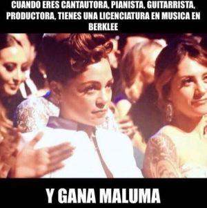 Natalia Lafourcade envía mensaje a Maluma tras polémica cara en los Latin Grammy