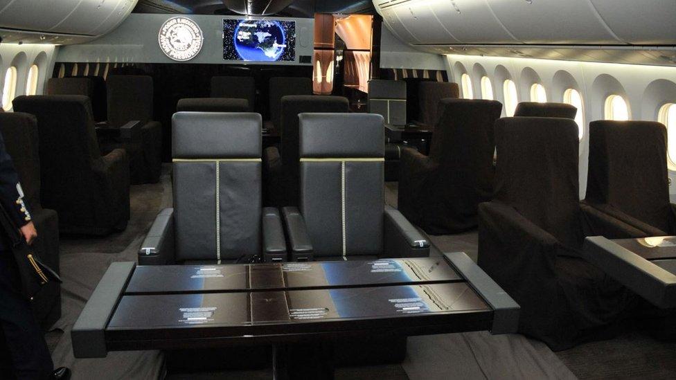 Así es por dentro el lujoso avión presidencial de México que AMLO ya puso a la venta