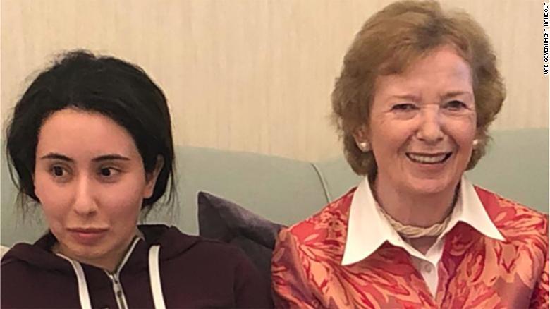 Difunden imagen de la princesa de Dubái que estaba desaparecida tras intentar fugarse
