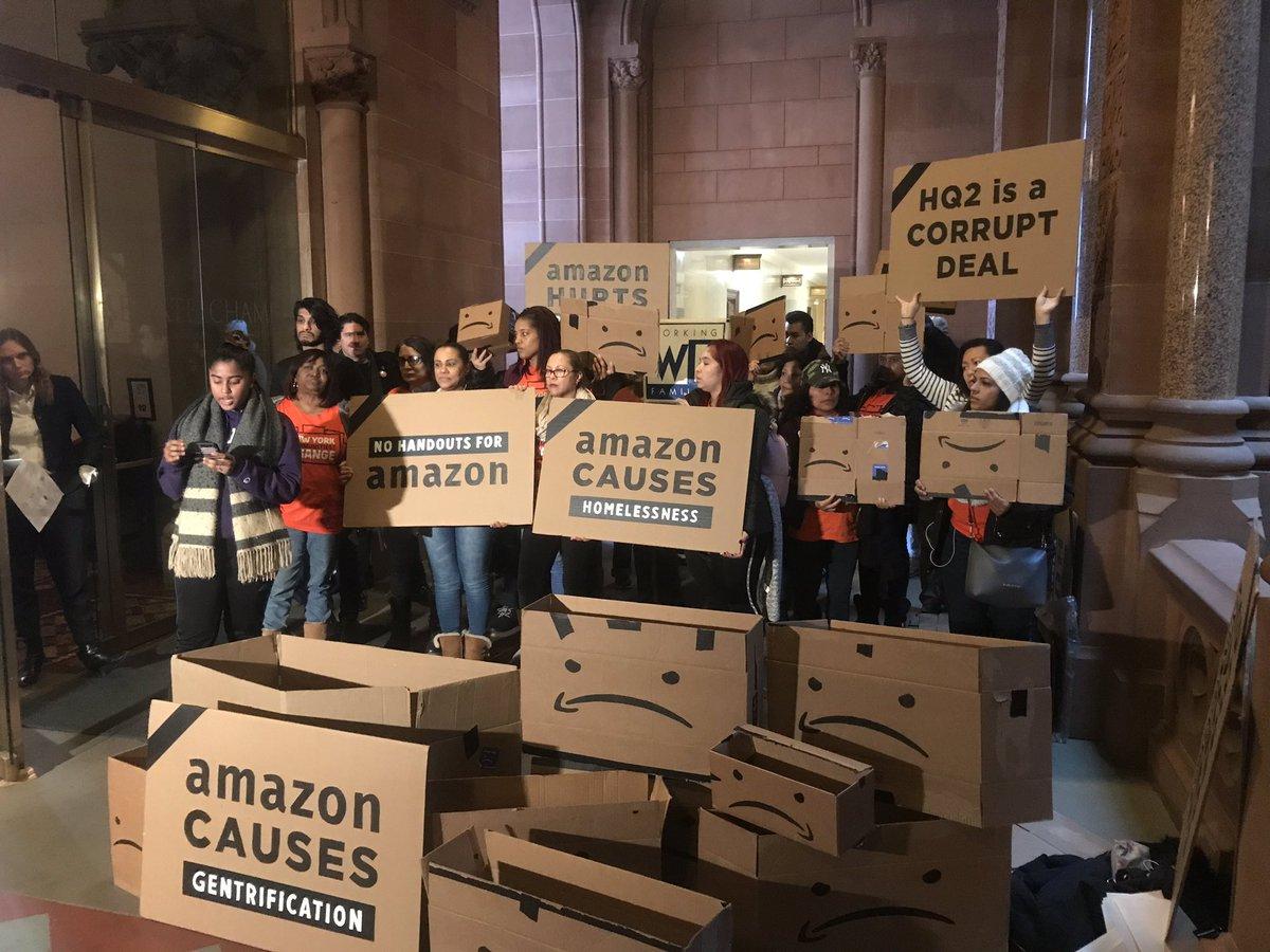 El Senado y La Asamblea de NY pueden frenar el terrible acuerdo con Amazon