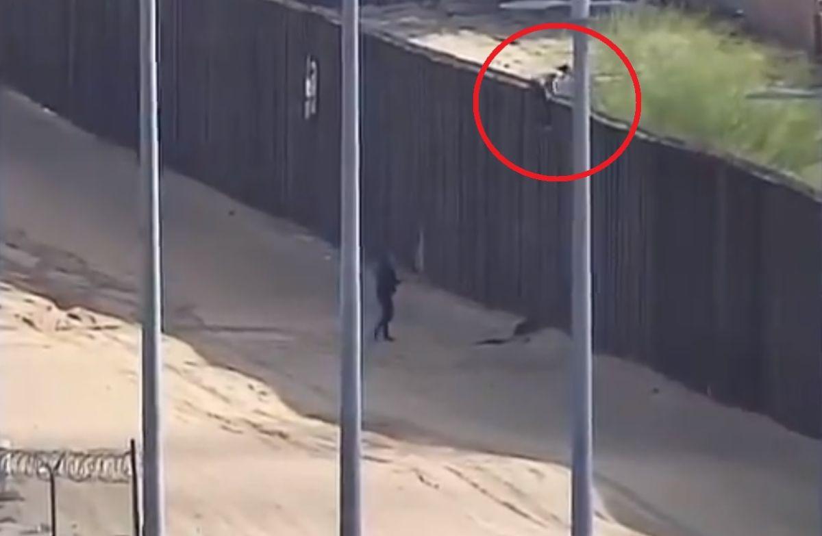 Un inmigrante mexicano murió tras caer de lo alto del muro fronterizo