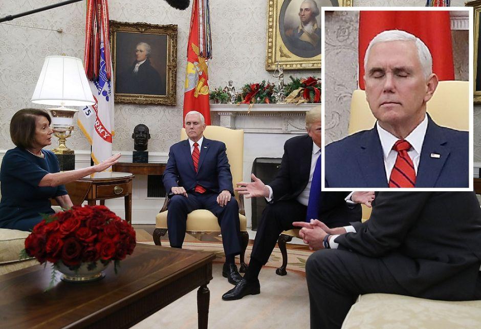 ¿Por qué todos se burlan del vicepresidente Mike Pence tras reunión de Trump con demócratas?