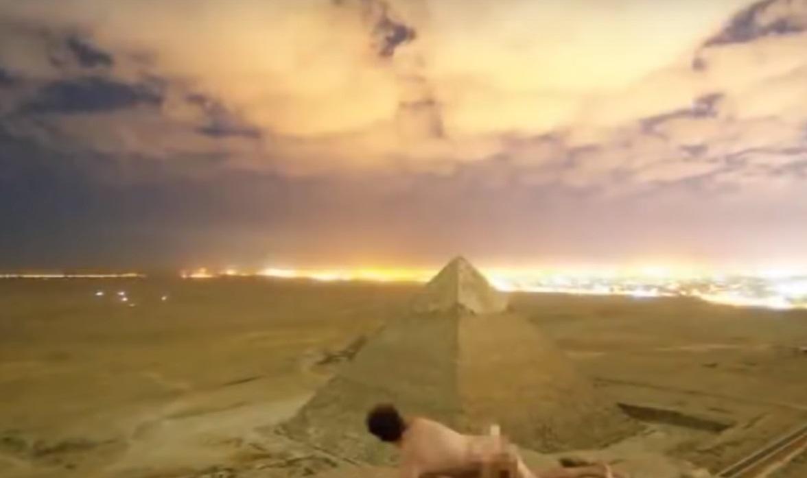 Video de pareja teniendo sexo en pirámide de Giza por el que Egipto inicia investigación