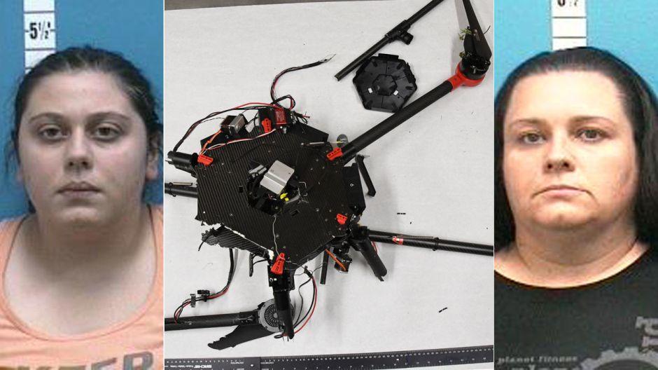 Madre e hija usan dron para llevar tabaco y celular a un preso en Florida