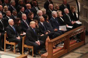 El tuit de Trump previo al funeral de George H. W. Bush al que acudieron todos los expresidentes