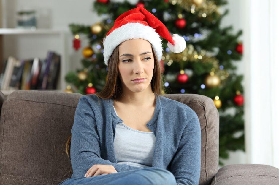 Melancolía que funde luces navideñas