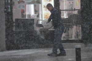 Hoy caerán chubascos de nieve en Nueva York
