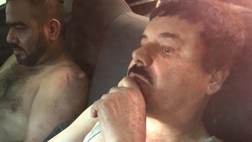 """El Chapo fue detenido junto a  Orso Iván Gastélum Cruz (""""El Cholo Iván"""")."""
