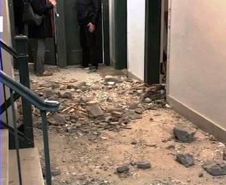 Anciano herido en la ducha tras colapso de edificio vecino en Upper East Side