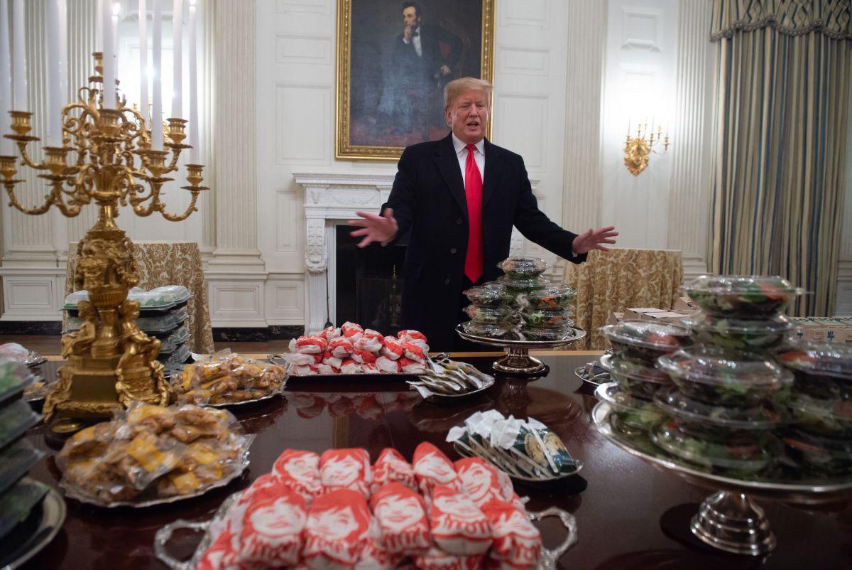 Trump se jactó del menú que ofreció y las redes le respondieron