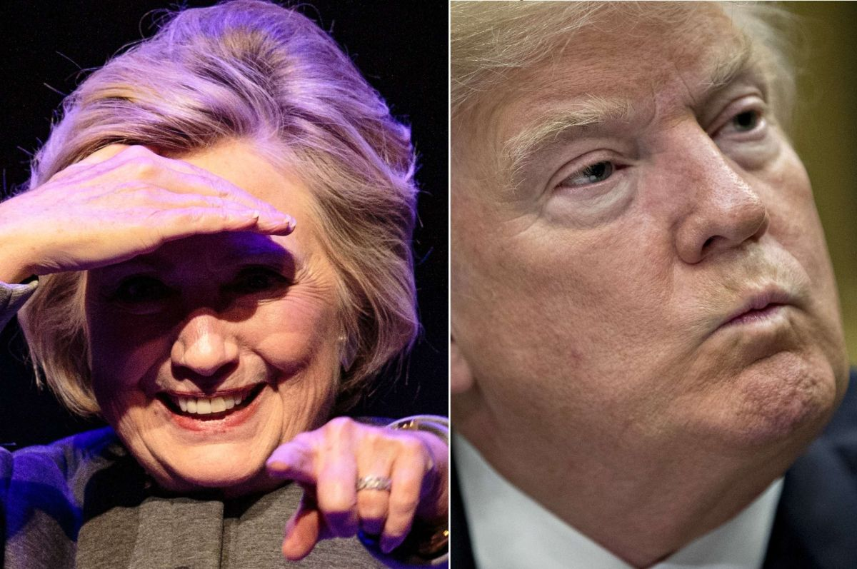 Trump se burla de Hillary Clinton por declinar competir en 2020… y ella ¿recula?