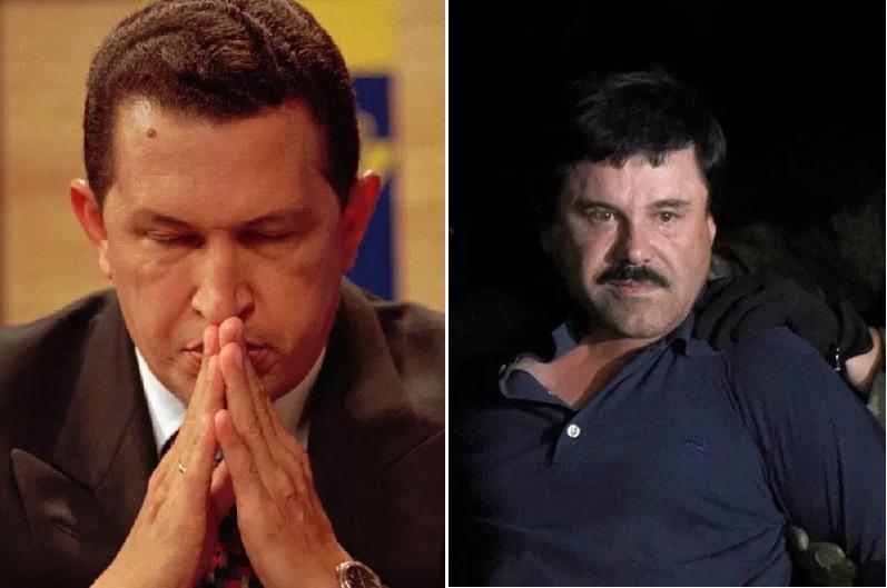 """Hugo Chávez y """"El Chapo""""."""