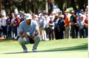 Tiger Woods tuvo un discreto inicio en el Campeonato Mundial de Golf en México