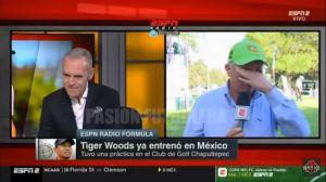 """Video: John Sutcliffe rompe en llanto en transmisión en vivo por """"culpa"""" de Tiger Woods"""