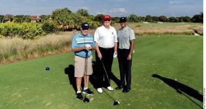 Donald Trump reúne a Tiger Woods y Jack Nicklaus en un partido de golf