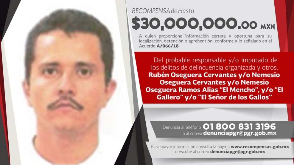 """El reino del terror y la sangre del CJNG de """"El Mencho"""" presente en 28 Estados de México"""