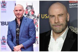John Travolta se inspiró en Pitbull para su nuevo 'look'