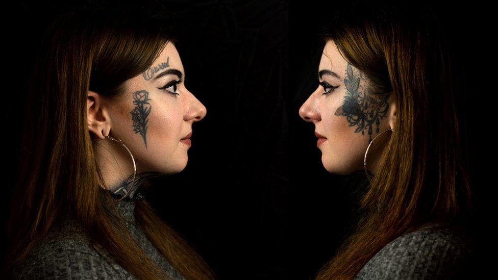 """""""Me tatué la cara para no tener un trabajo normal"""""""