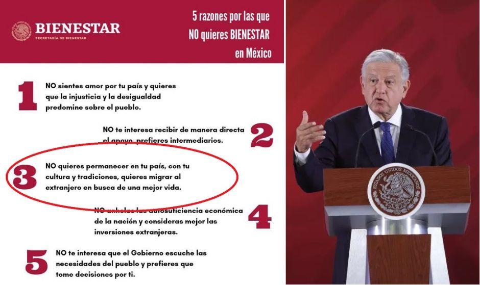 """Gobierno de AMLO sugirió """"por error"""" que inmigrantes """"no quieren bienestar"""" para México"""