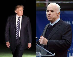 Trump arremete contra McCain siete meses después de la muerte del senador