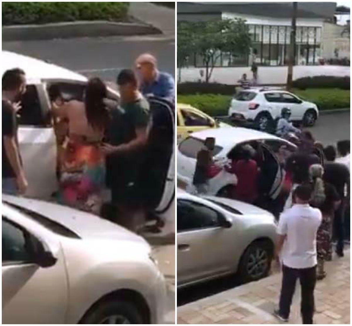 Embarazada enfrenta a jalones a la amante de su marido en plena calle; infiel sale huyendo