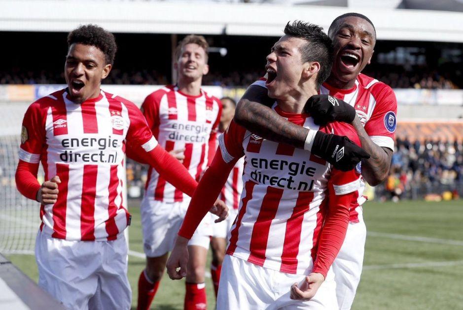 Chucky Lozano le da un triunfo al límite al PSV Eindhoven con un golazo