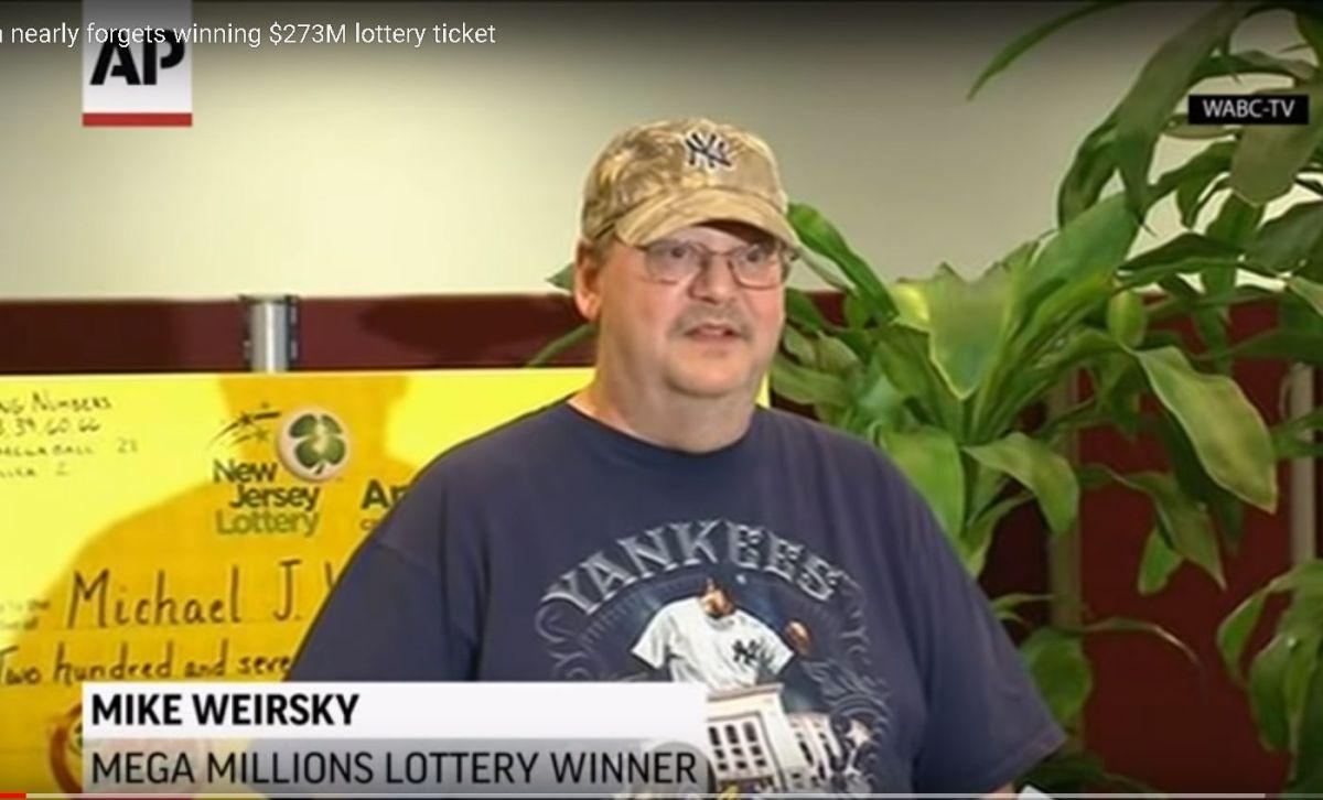 Weirsky olvidó el boleto ganador de Mega Millions en la tienda.