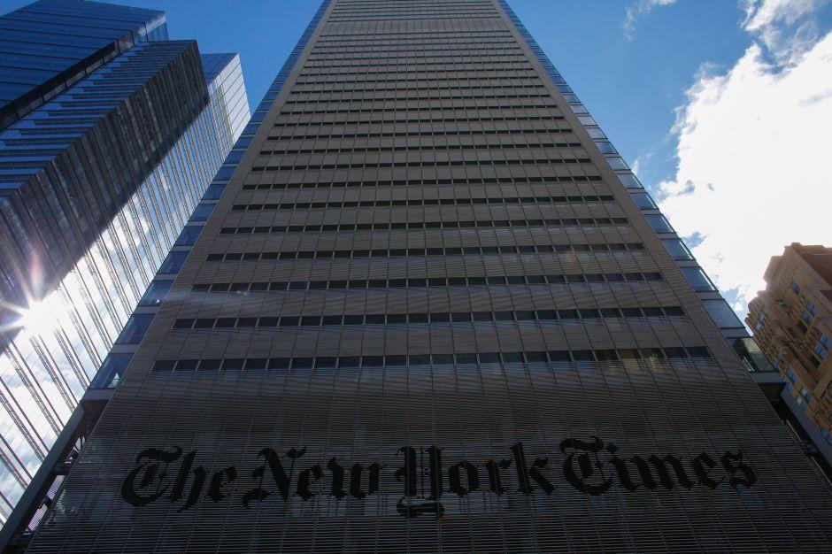 """Spider-Man"" reapareció escalando la torre del New York Times"