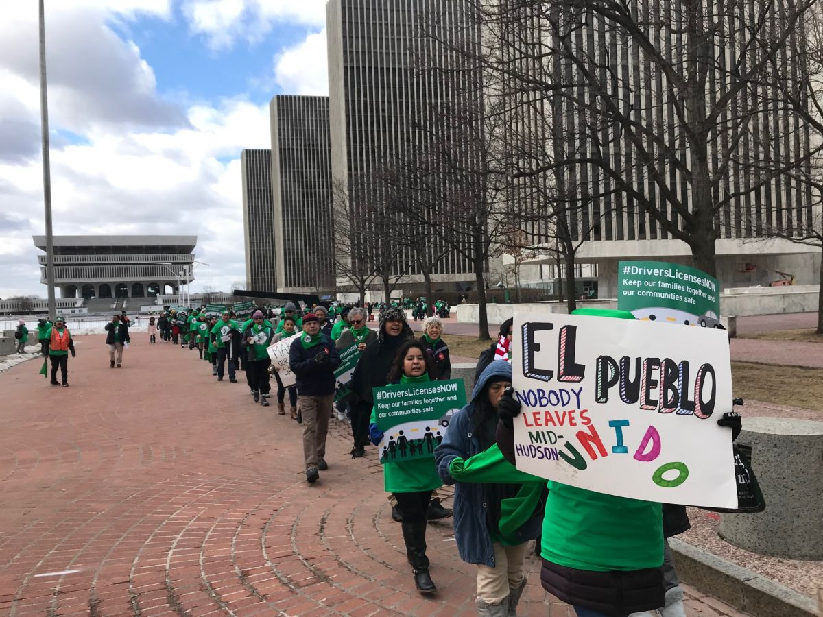 Manifestantes en Albany piden licencias de conducir para los indocumentados (Marzo 2019)