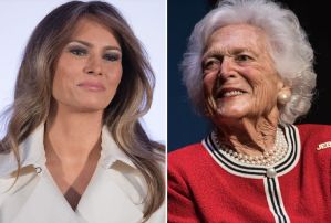 La carta que Bárbara Bush envió a Melania Trump donde agradece no tener que escribir a Bill Clinton