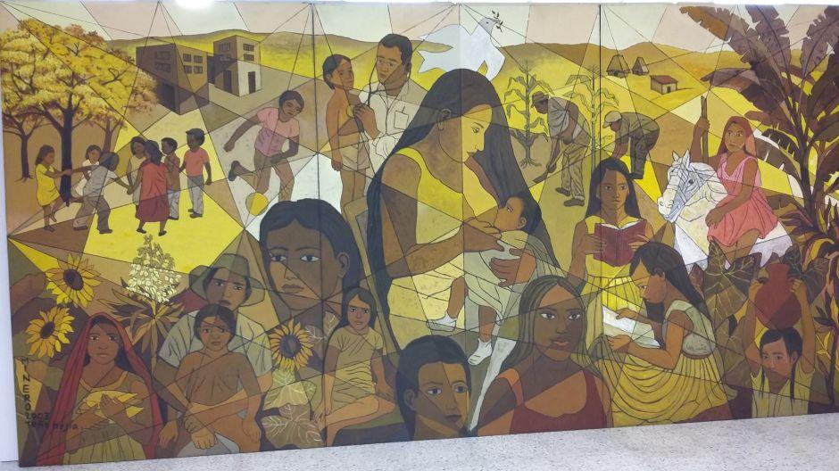 Mural de pintor salvadoreño adorna la sede de la ONU en Nueva York