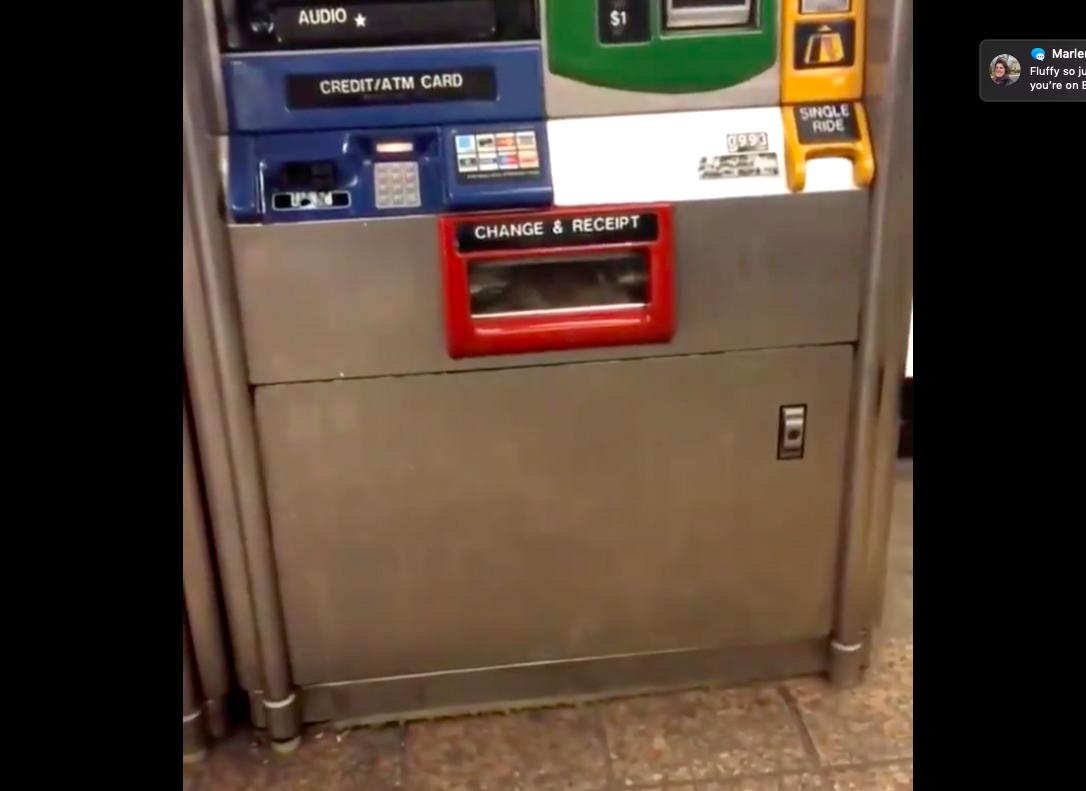 VIDEO: Rata atrapada en bandeja de un dispensador de Metrocards