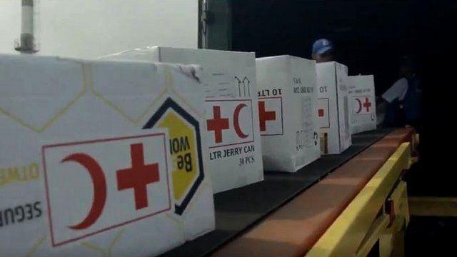 Arriba a Venezuela el primer avión de la Cruz Roja con medicamentos y plantas eléctricas para hospitales