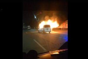 Extorsionadores queman unidades de transporte público en el Estado de México
