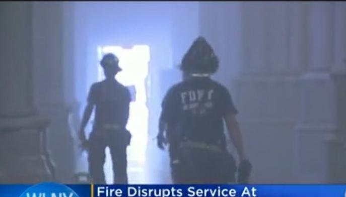 También hubo fuego en la catedral St. John the Divine en Nueva York