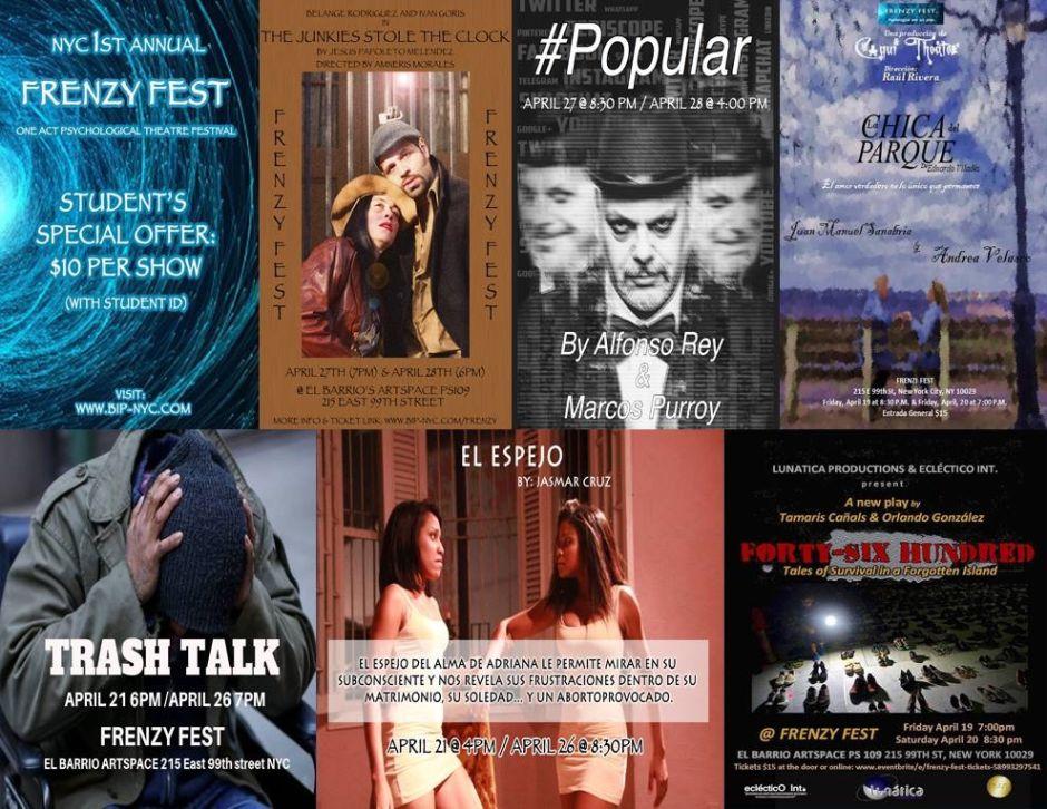 """El """"frenesí"""" se apodera de Nueva York con el primer """"Frenzy Fest"""" de teatro"""