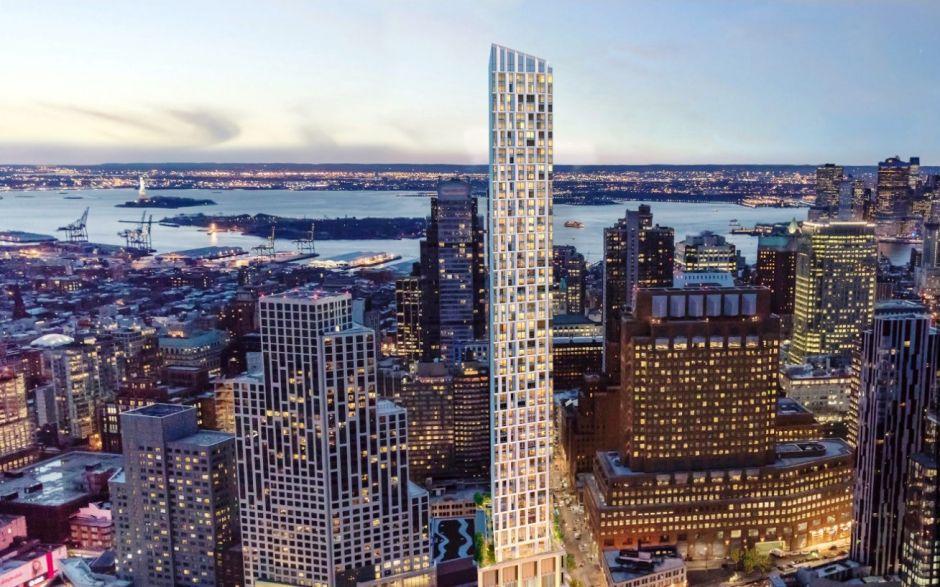 El edificio más alto de Brooklyn ya tocó techo con 720 pies de altura y la piscina más elevada del hemisferio