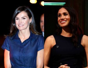 La reina Letizia de España le copia lindo modelito de mezclilla a Meghan Markle