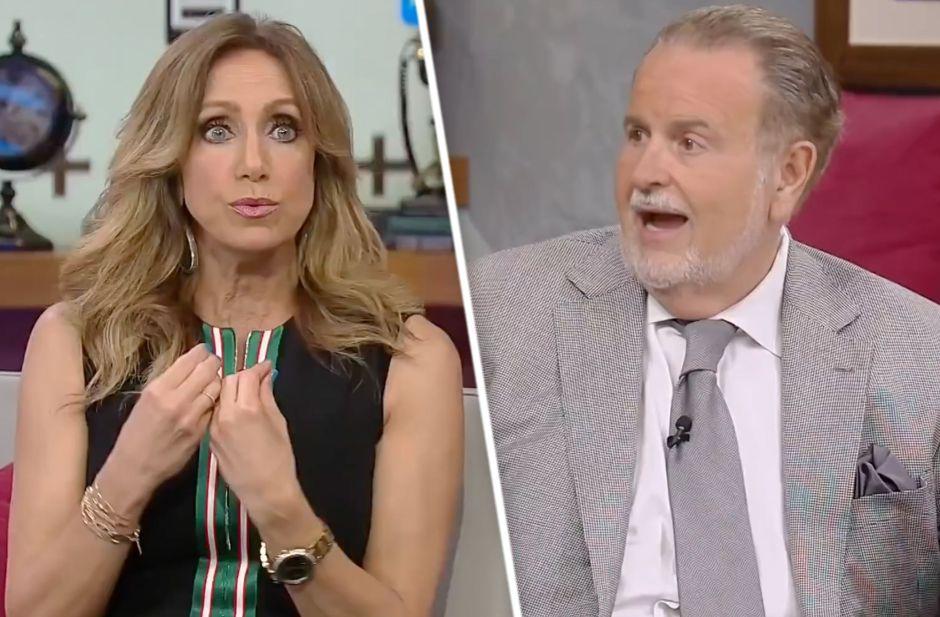Vídeo: Entre gritos empiezan a grabar Lili Estefan y Raúl de Molina El Gordo y la Flaca de Univision